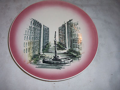 Vintage 50/60's Australian Studio Anna Hand Painted Wall Plate of Martin Place ?