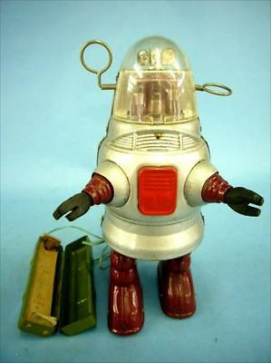 Vintage Robbie type Robot Silver Electric Remote Control Nomura Toy Japan