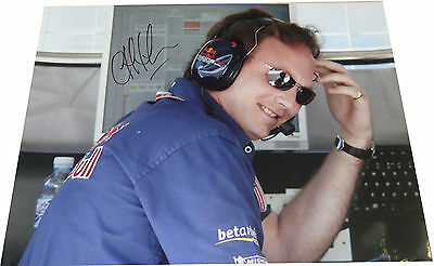 Christian Horner SIGNED AUTOGRAPH Red Bull Formula One 16x12 Photo UACC AFTAL