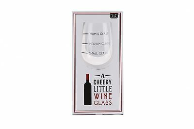Small Glass Medium Glass Mum's Glass Funny Novelty Wine Glass Gift