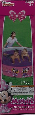 Disney Minnie Mouse Fill N Fun Quick Set Pool Easy to Set up 72 in x15 in NIB