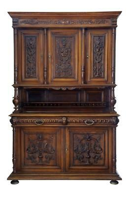 19Th Century Flemish Carved Walnut Buffet Cabinet