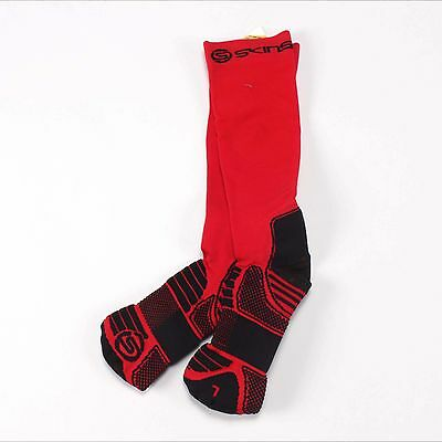 Skins Men's Active Essentials Compression Socks Red/Black Small