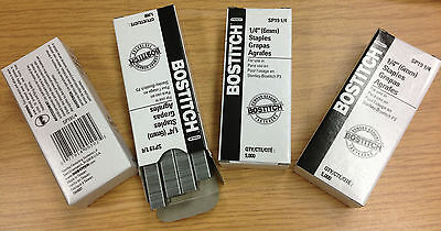 "Lot of 4 boxes of Stanely Bostitch P3 Staples 1/4"" (6mm) for Compatible Staplers"