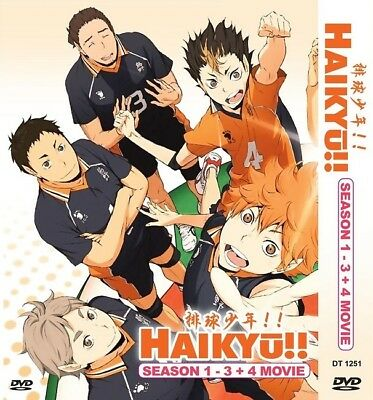 HAIKYUU!! Box Set | S1+S2+S3+Movies 1+2 | 62 Episodes | 10 Discs (DT1109)