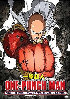 ONE PUNCH MAN Box Set | TV+OVA+Specials | Episodes 01-19 | 4 DVDs (DT1041)