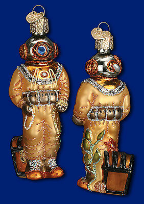 """Deep Sea Diver"" (24145) Old World Christmas Glass Ornament"