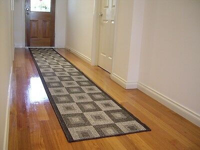 Large Modern Hall Runner Rug 400cm Long Premium Quality FREE DELIVERY 642 Grey