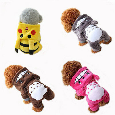 Fleece Pet Cat Dog Costume Warm Winter Dogs Clothes Hoodie Coat Clothing for Pet