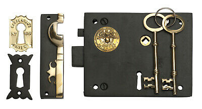 Tradco 2018AF Box Lock Iron Antique Finish Right Hand 150x120mm