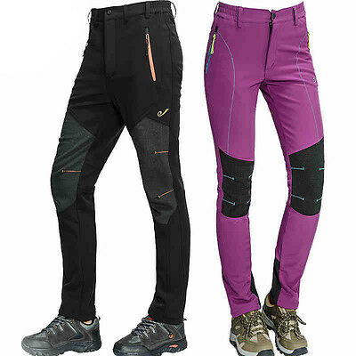 Mens Womens Outdoor Sports Snowboard Pants Hiking Climbing Trousers Waterproof