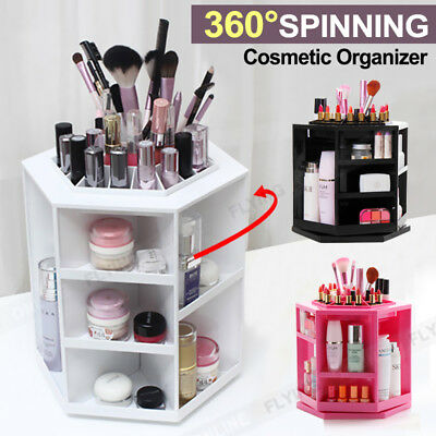 360 Spin Acrylic Spinning Cosmetic Makeup Organizer Box Storage Rack Case Holder