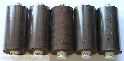 5 X REELS MID GREY MOON POLYESTER SEWING THREADS COTTON 120s 112