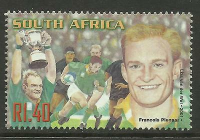 SOUTH AFRICA 2001 FRANCOIS PIENAAR RUGBY 1 Value MNH