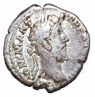 AUTHENTIC COMMODUS ROMAN COIN - AR Silver Denarius, Rv. Victory - A423