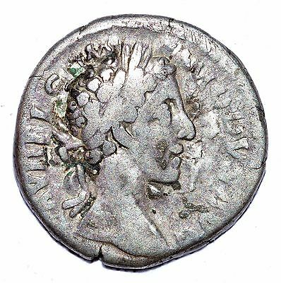 AUTHENTIC COMMODUS ROMAN COIN - AR Silver Denarius, Rv. Victory - A426