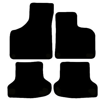 Audi A3 2003 to 2012 Black Floor Rubber Fully Tailored Car Mats 3mm 4pc Set