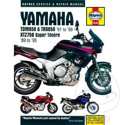 Yamaha XTZ 750 H Super Tenere 1989 Haynes Service Repair Manual 3540