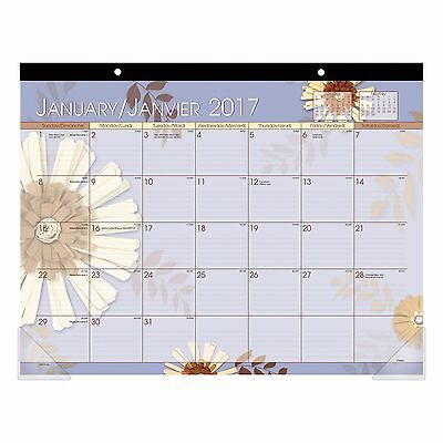 "At-A-Glance 2017 Paper Flowers Desk Pad, 22"" x 17"" New!!!"
