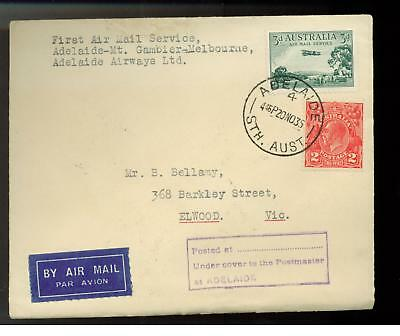 1935 Adelaide Australia Melbourne First Flight Cover