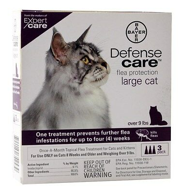 Bayer Defense Care Flea Protection for Large Cat - 3 Month Supply