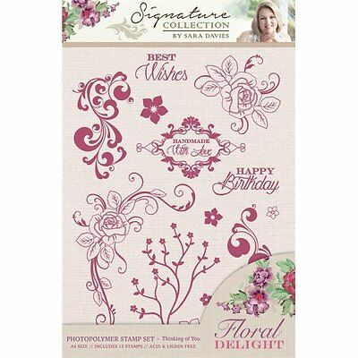 Thinking Of You - Crafter's Companion Sara Signature Floral Delight Stamp Set