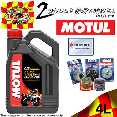 4L Motul 7100 10W40 Oil And 1651007J00 Filter Change Suzuki Gsf600 Bandit 2004