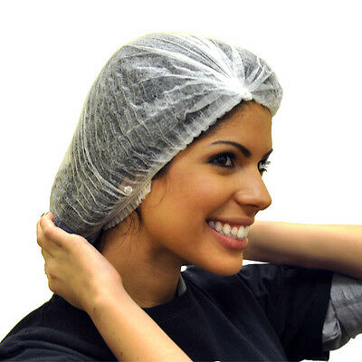 100 Disposable Hair Nets Salon Bouffant Sunless Spray Tanning Head Cover Beauty