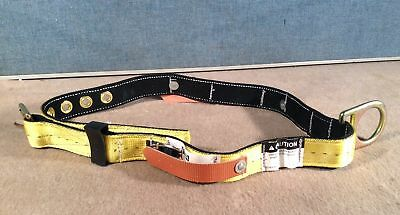MSA 415340 Miner's Nylon Safety Belt /w Tongue Buckle, Fixed D-Ring, Size XLG
