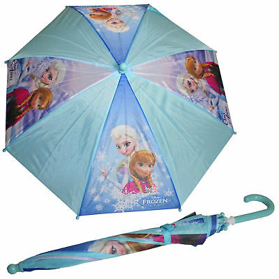 Girls disney Elsa & Anna Aqua & blue Frozen umbrella
