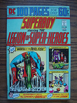 Superboy #202 VF Wrath Of The Devil Fish
