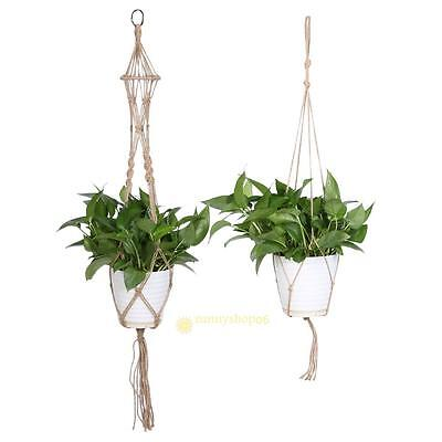 Home Garden Macrame Plant Hanger Flowerpot Holder Gardenpot Lifting Rope