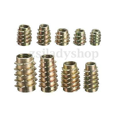 M4 M5 M6 M8 M10 9 Size Hex Drive Screw In Threaded Insert Nuts For Wood (Type E)