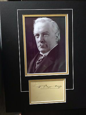 David Lloyd George - Former Prime Minister - Excellent Signed Photo Display