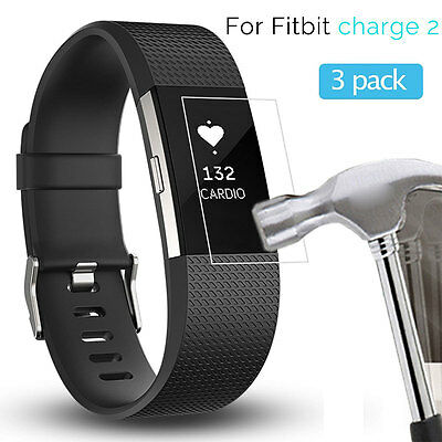 3 Pack HD Ultra Clear Anti-Scratch Screen Protector Film for Fitbit Charge 2