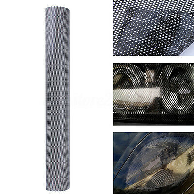 106x50cm Tinting Perforated Mesh Film Fly-Eye MOT Legal Tint Headlight Light Car