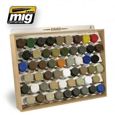 AMMO of Mig Jimenez 10ml Paint Jars Storage System for Tamiya/Mr.Color