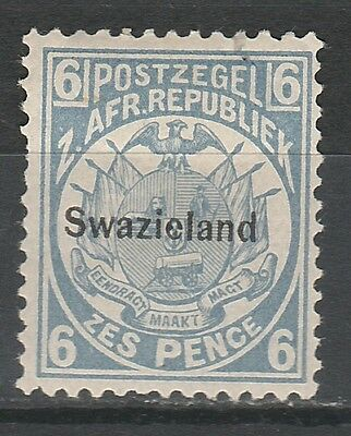 Swaziland 1889 Transvaal Arms Overprinted 6D