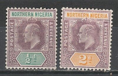 Northern Nigeria 1905 Kevii 1/2D And 2D Wmk Multi Crown Ca