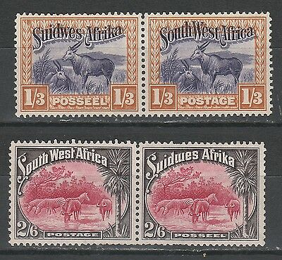 South West Africa 1931 Pictorial 1/3 And 2/6 Pairs