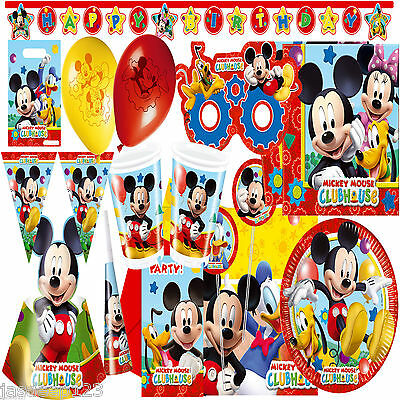 Disney Playful Mickey Mouse Clubhouse Party Supplies Tableware Decorations Kids