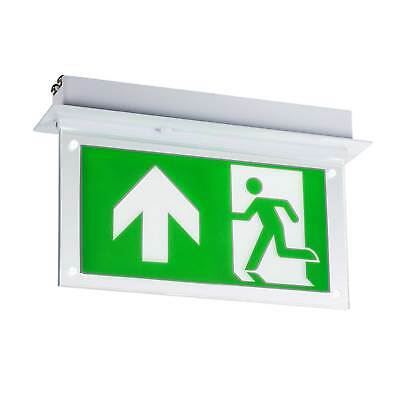 Knightsbridge 230V 2W Recessed LED Emergency Exit Sign For Ceiling (Maintained)