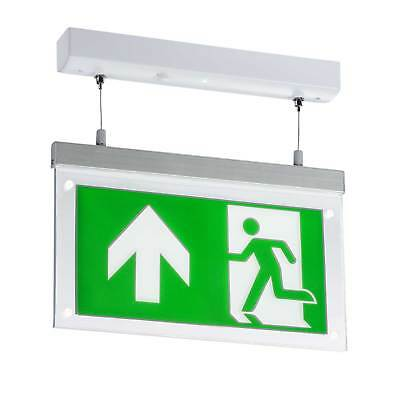 Knightsbridge 230V 2W LED Suspended Double-Sided Emergency Exit Sign Maintained