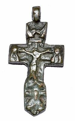 Rare Medieval Crucifix Pendant Showing Religious Scene  - Historical Gift - Op48