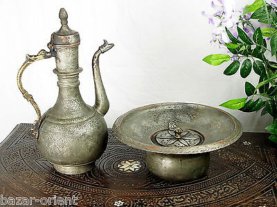 antik Kupfer Waschgarnitur Afghanistan antique copper Ewer Pitcher & Basin set C