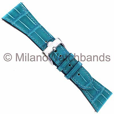 26mm Glam Rock High Quality Hand Made Turquoise Genuine Alligator Watch Band