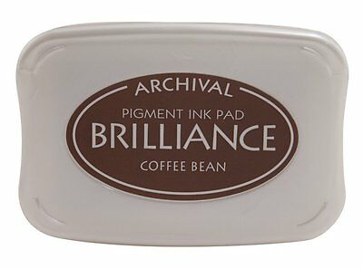 Tsukineko Brilliance Full Size Pigment Ink Pad - Coffee Bean Brown