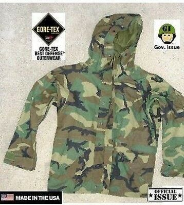 US Army ECWCS Goretex Cold Weather PARKA woodland camouflage Jacke Large Regular