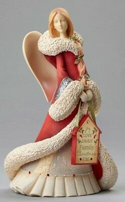 Heart of Christmas Angel with Home Sign - 4052767