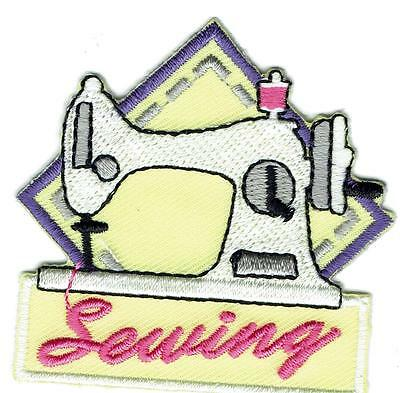 Girl Boy Cub SEWING Skills Machine project Fun Patches Crests Badges SCOUT GUIDE